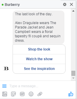Burberry Fashion Chatbot