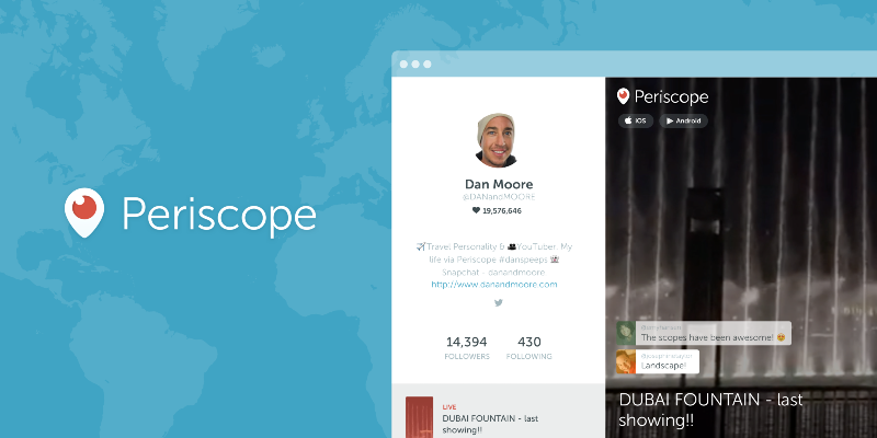 Thumbnail for Web Profiles for Periscopers