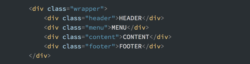 I could have used semantic elements here, but I'm choosing to stick with div's to make the comparison to the Bootstrap example easier.