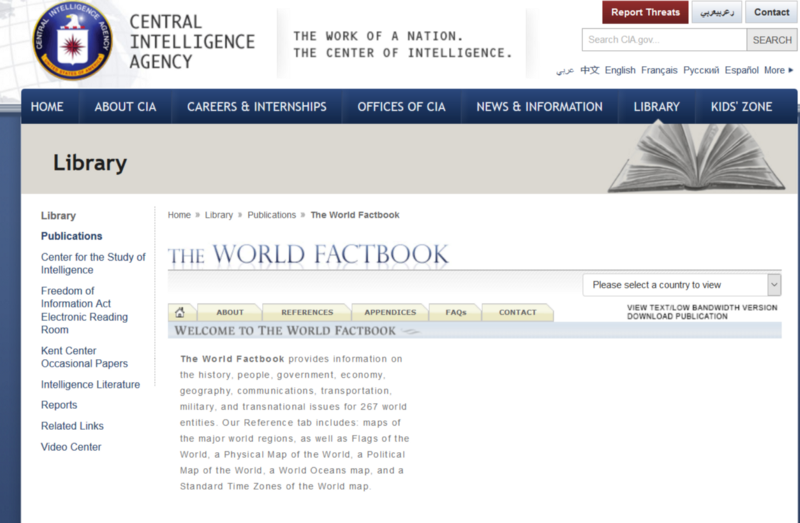 Web Scraping with Python: Illustration with CIA World Factbook