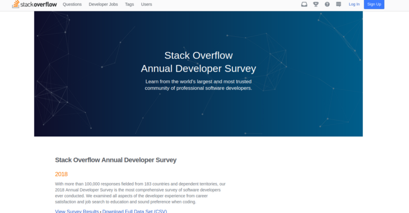 StackOverflow survey data