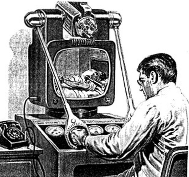 """The Teledoctor — Teledoctoring replaces inefficient house calls."" Television, 1955."