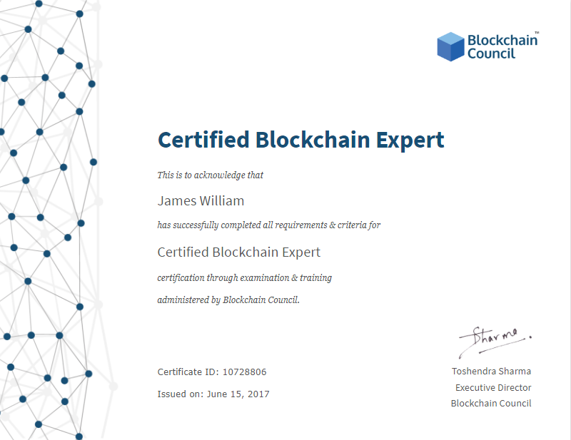 Certified Blockchain Expert Zhenis Medium