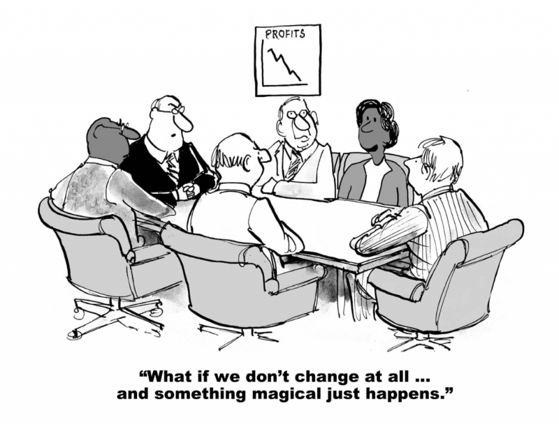 Change Management - What is we don't change at all …. And something magical just happens Illustration