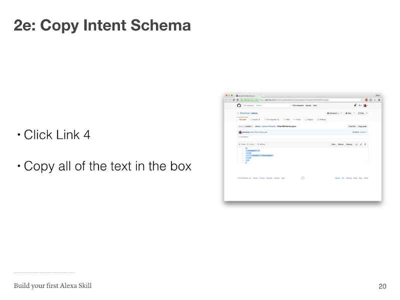 Step 2e: Copy Intent Schema