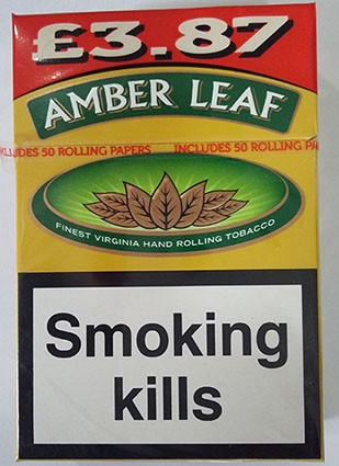 """Standardised """"plain"""" packaging for hand rolling tobacco"""
