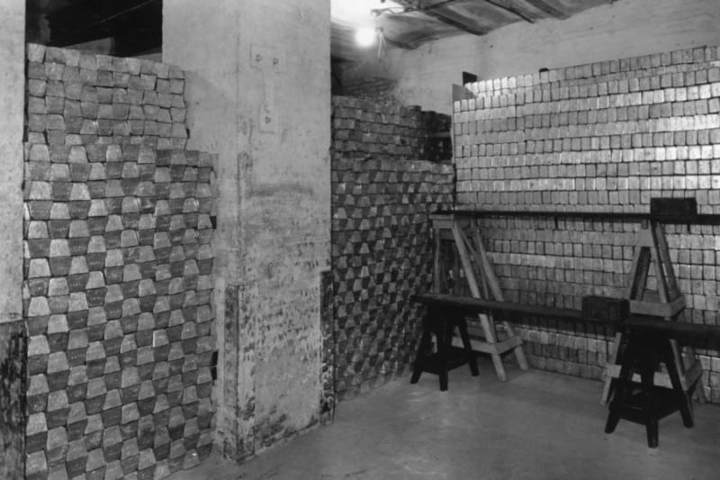 The Americans discovered treasure vaults with gold stacked high to the ceiling