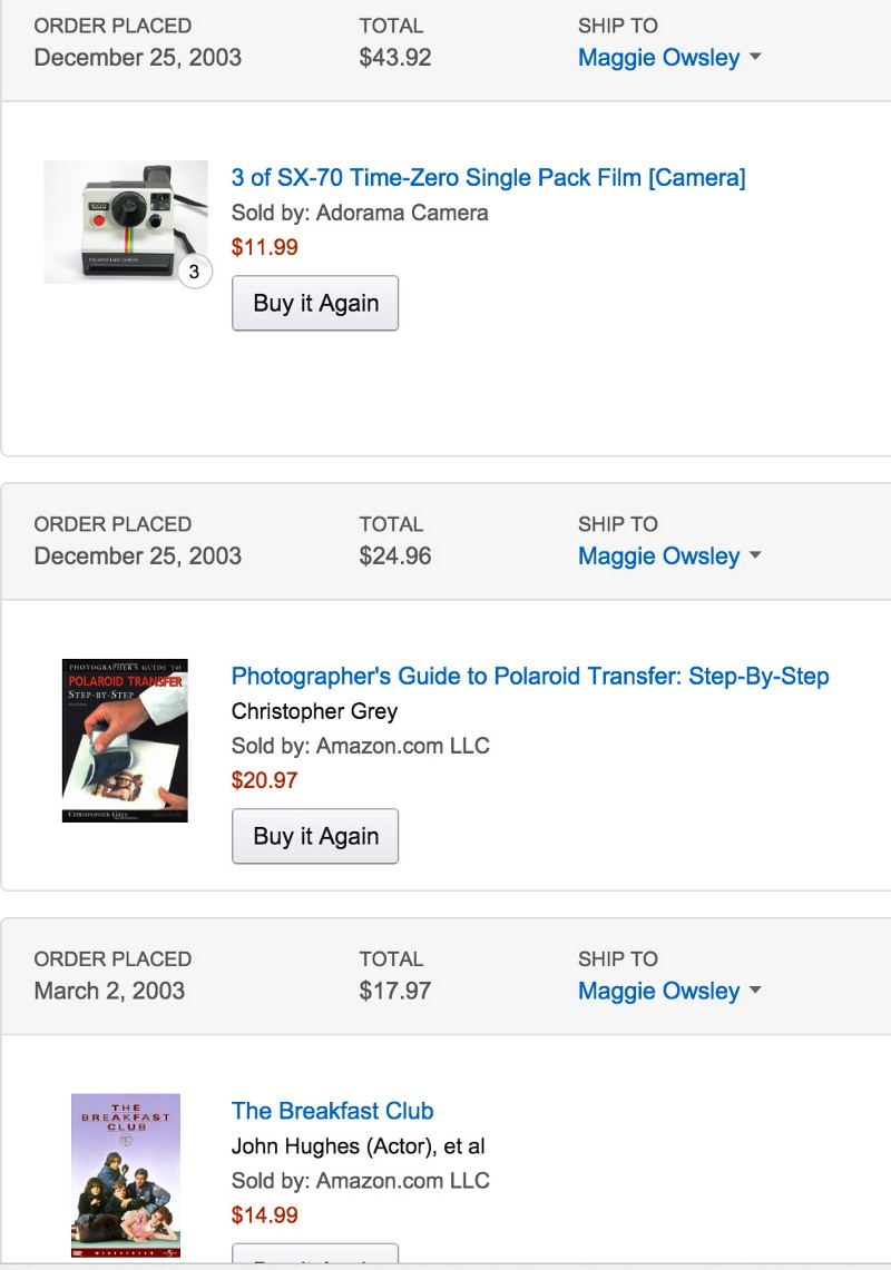 If you are what you buy, only Amazon knows the real me.