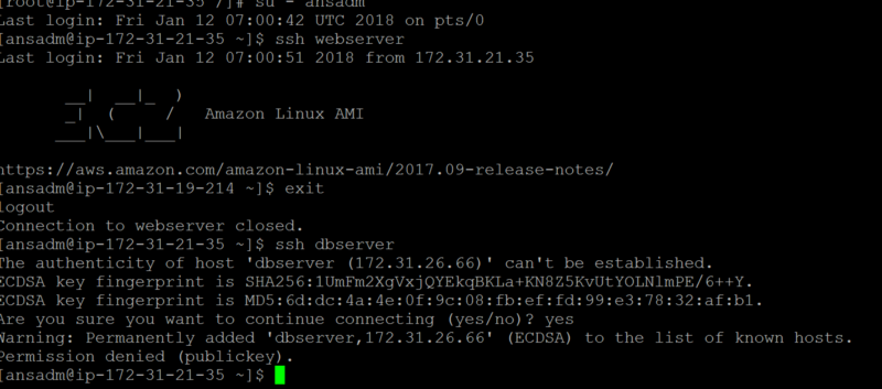install ansible aws linux
