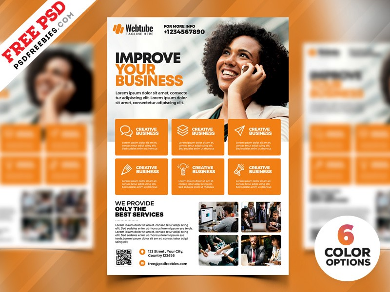 Multipurpose business flyer psd templates psd freebies medium multipurpose business flyer psd templates cheaphphosting Image collections