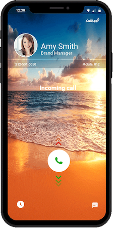 Call screen video in an incoming call