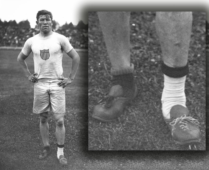 When Jim Thorpe won two Gold medals with shoes someone had thrown ...
