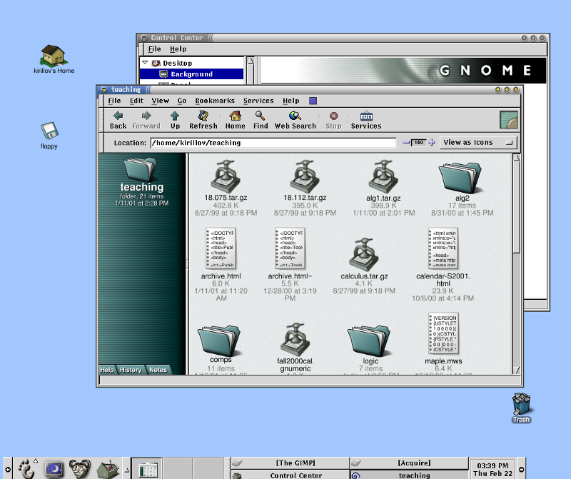 The first Linux desktop I used. I dig those titlebars and I still miss them