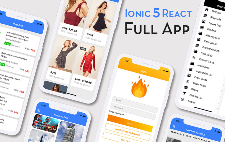 Ionic 5 React Full App in Capacitor from Enappd