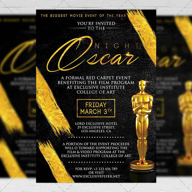 Oscar Night Club A5 Flyer Template Exclusive Flyer Medium
