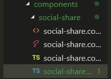social-share component