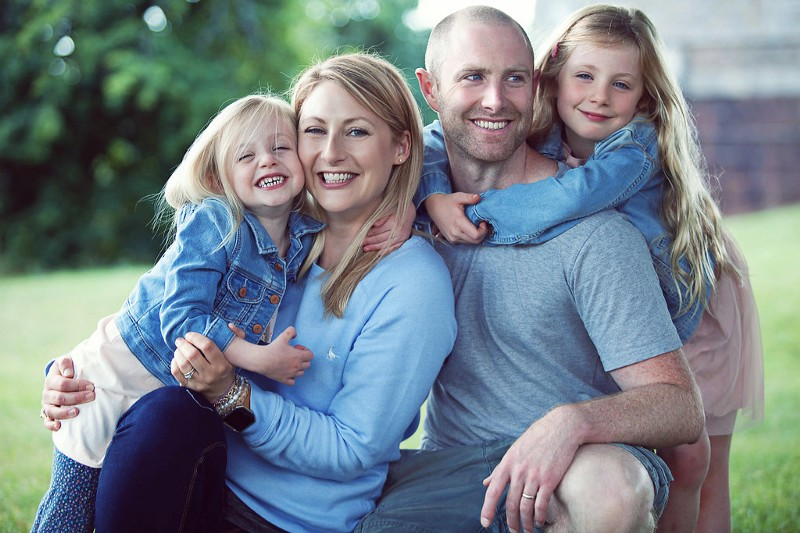 Founder of Mums Get Fit, Christina, her husband Ed, and their two daughters