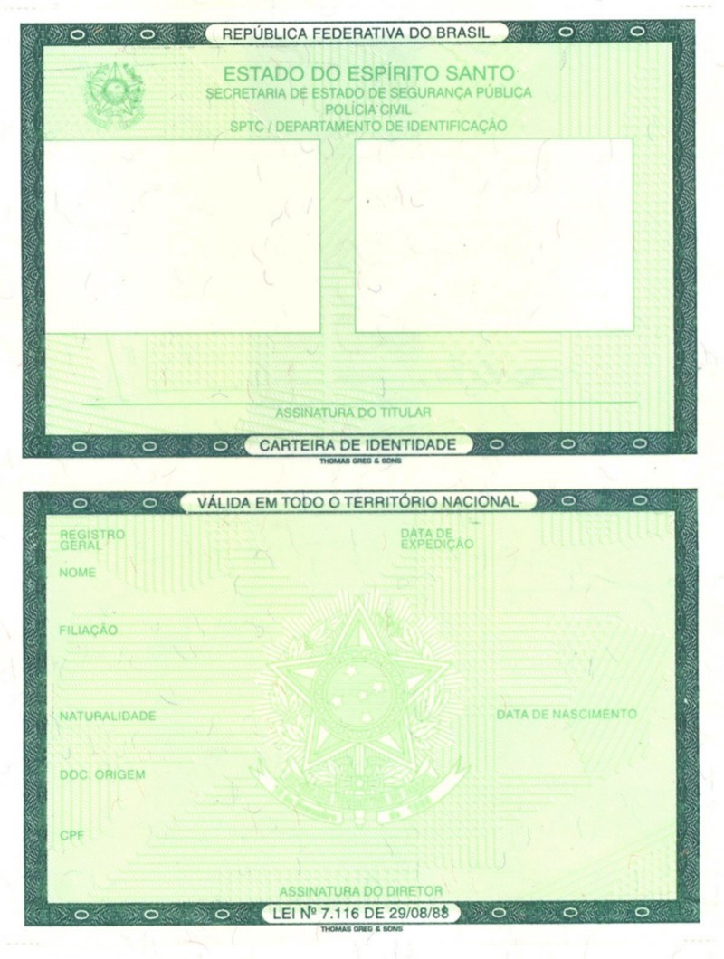 Image of the Brazilian National ID