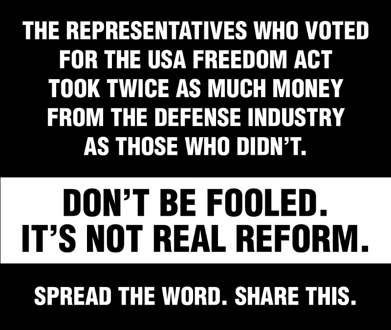 Follow the Money: 'USA Freedom Act' Backers in Congress ...