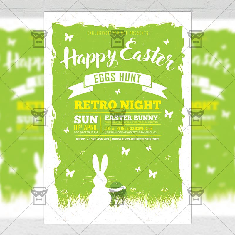 Happy Easter Celebration   Seasonal A Flyer Template