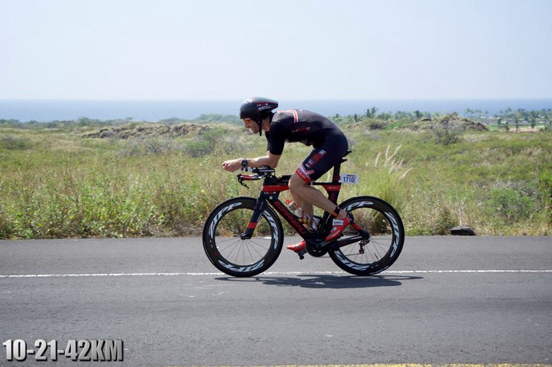 Bart Coaching biking during an ironman