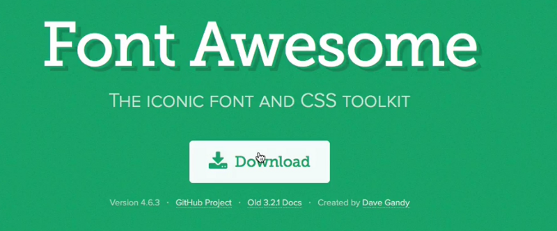 Font Awesome CSS for Website