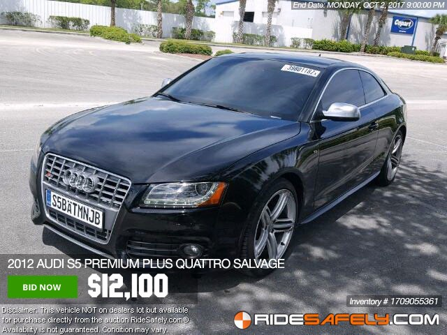 Shop For Used Audi For Sale Directly From Auto Auction - Audi car auctions