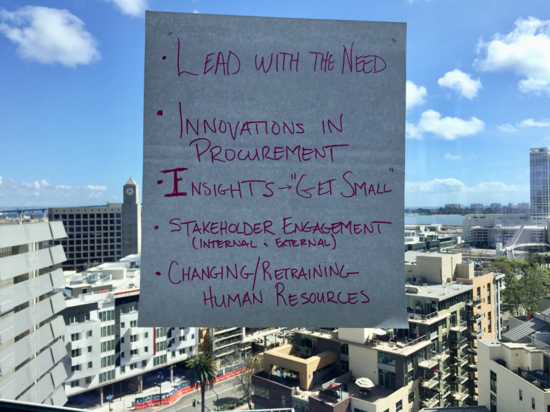 Never mind all of the insightful things written on the page, check out the view from the top floor of San Diego's new library!