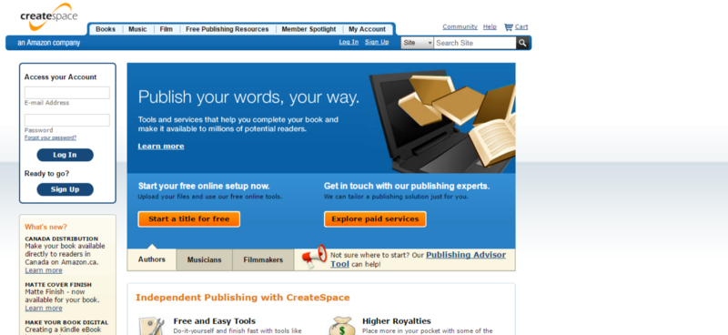 How to write self publish and sell your book in 2018 anthony frasier createspace is a print on demand book manufacturer what does that mean that means anytime someone orders a book from you thats when they will solutioingenieria Choice Image