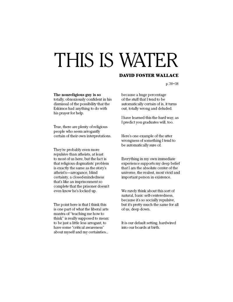 David Foster Wallace This Is Water Pdf