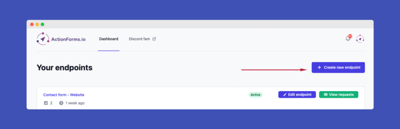 Create ActionForms.io endpoint