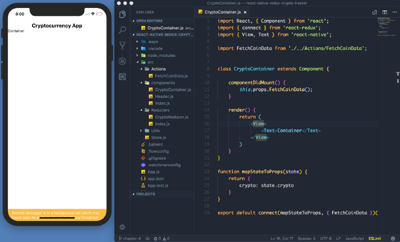 Let's Build: Cryptocurrency Native Mobile App With React Native + Redux — Chapter IV