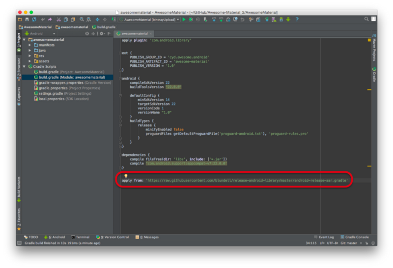 how to add library in gradle