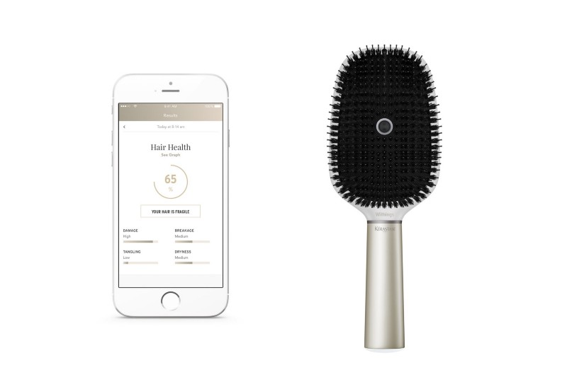 Smart hairbrush by L'Oreal and Withings