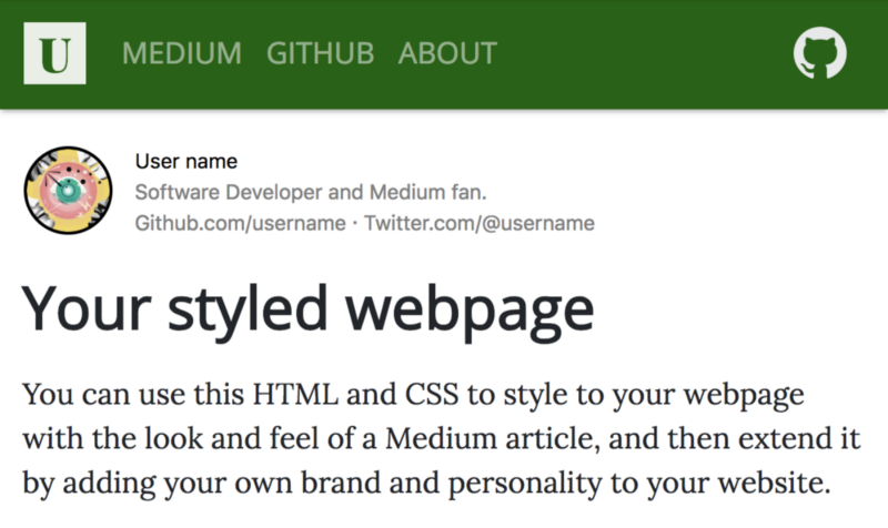 How to style your webpage or markdown like a Medium article — or however you want