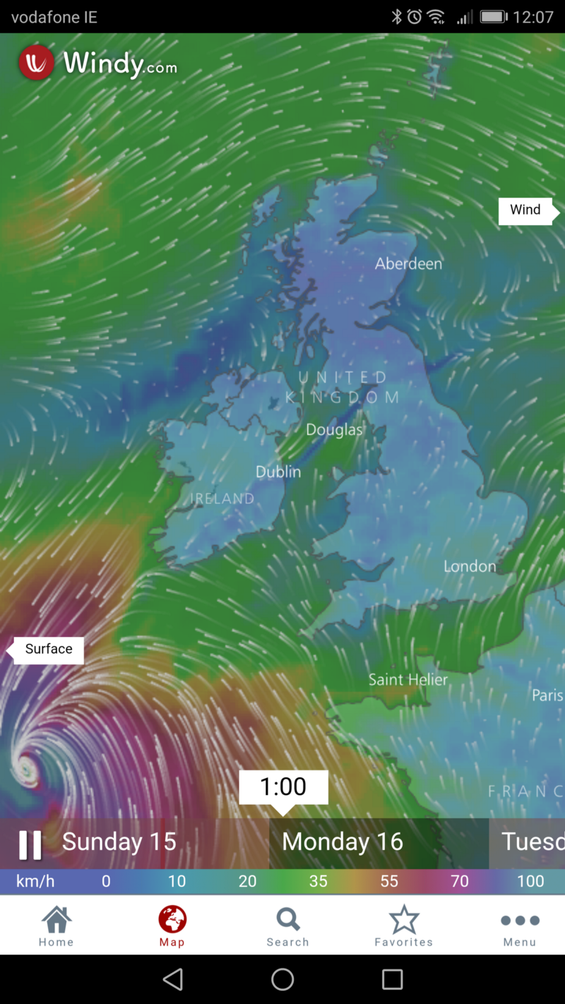 Heres how to track storm ophelia before it hits ireland use this app for real time updates of the storms path gumiabroncs Choice Image