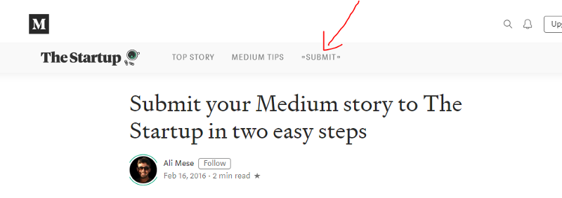 Submit medium story to a publication