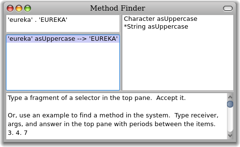 Pharo Method Finder