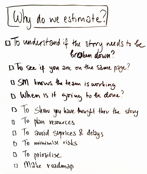 Why do we estimate and can we do without?