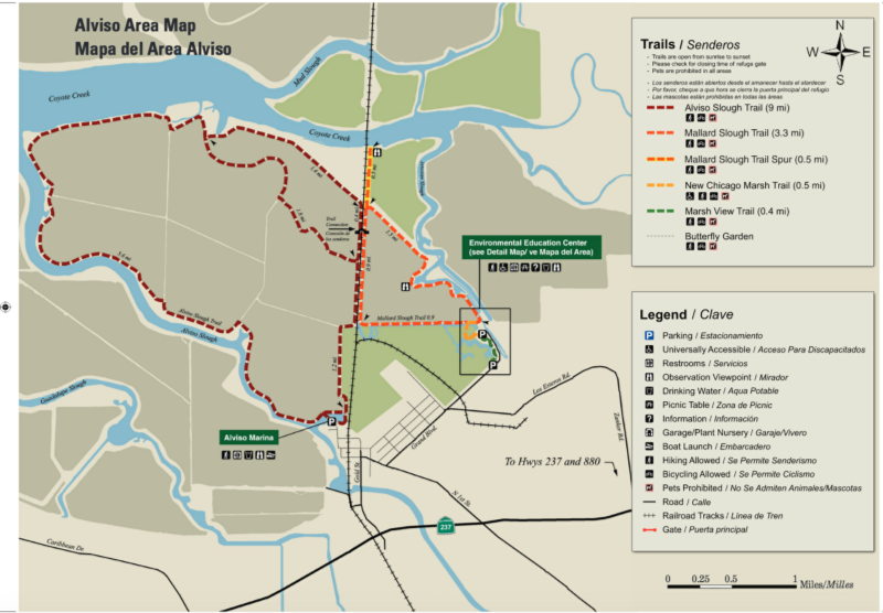 The Baylands Trails Great Runs - San jose bike trails map