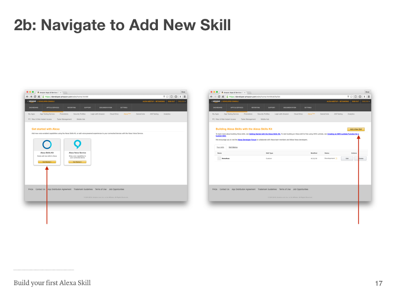 Step 2b: Navigate to Add New Skill