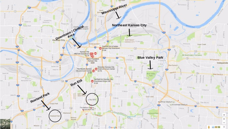 The Map Below Displays Several Hotels Near Downtown And Northeast Kansas City