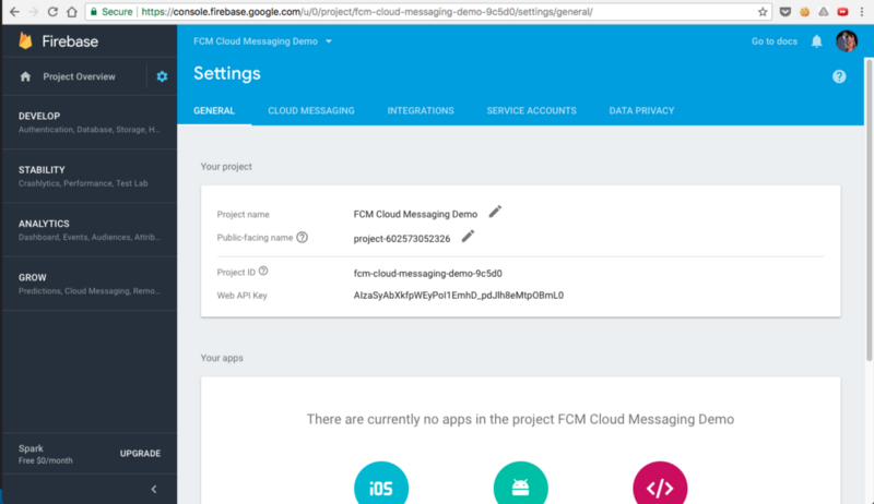 Web Push Notifications or Cloud Messaging using Firebase(FCM