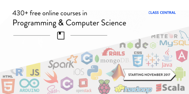 430 Free Online Programming & Computer Science Courses You Can Start in November