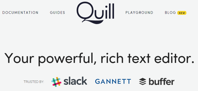 Quill homepage