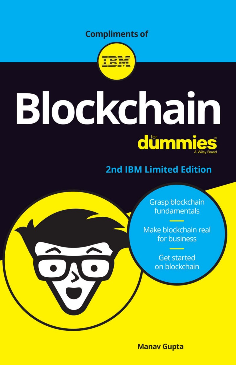 Cover of IBM's Blockchain forDummies
