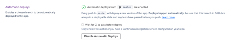 Select the auto-deploy option to the auto-deployment.