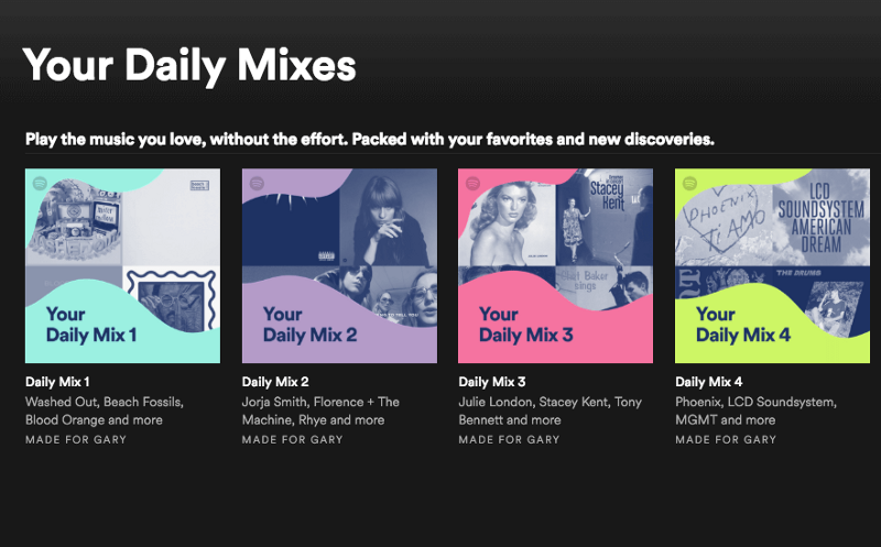 Spotify does really clever things