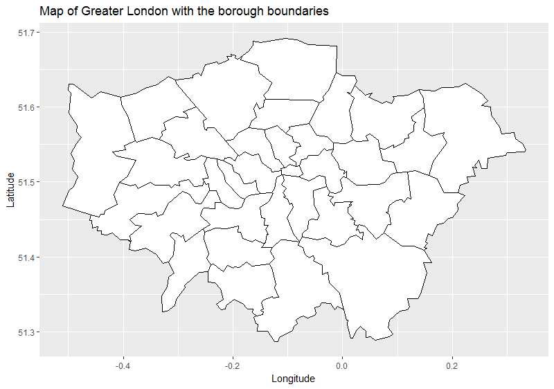 map1 labsx longitude y latitude title map of greater london with the borough boundaries