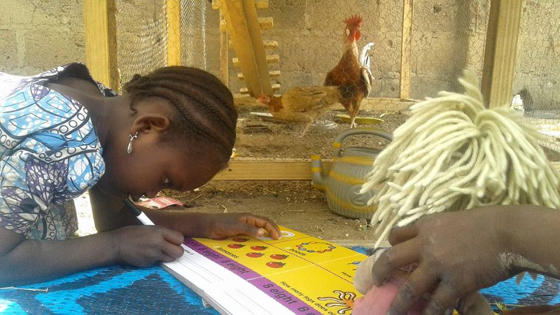 Teaching a chicken maths is therapeutic for both sides in the deal.